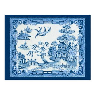 Cartão Postal Salgueiro azul