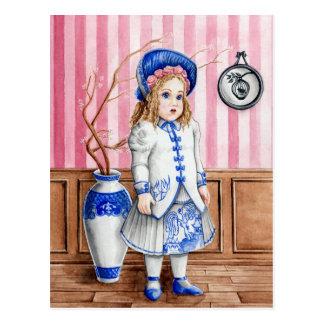 Cartão Postal Salgueiro azul Bru