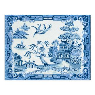 Cartão Postal Salgueiro azul Poatcard
