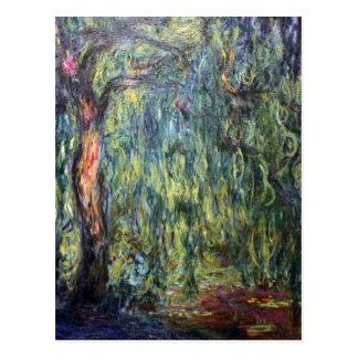 Cartão Postal Salgueiro Weeping de Claude Monet