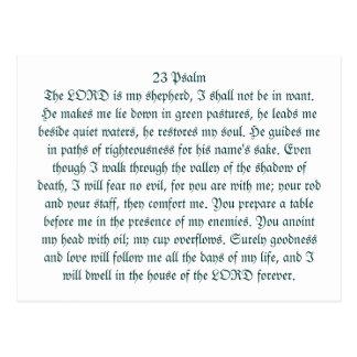 Cartão Postal salmo 23