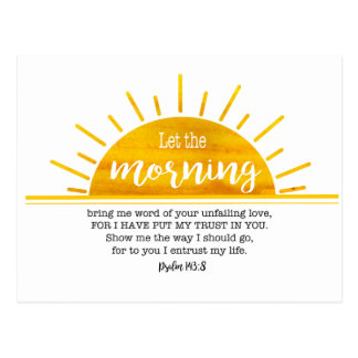 Cartão Postal Salmo amarelo de Sun