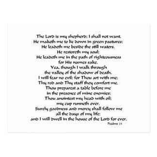 Cartão Postal Salmos 23