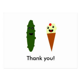 Cartão Postal Salmouras e sorvete: Obrigado!