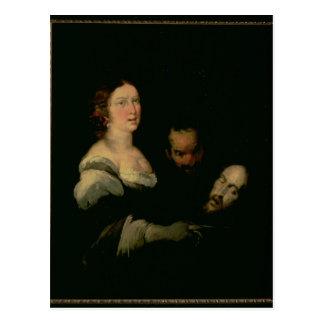 Cartão Postal Salome com a cabeça de St John o baptista