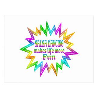 Cartão Postal Salsa que dança mais divertimento