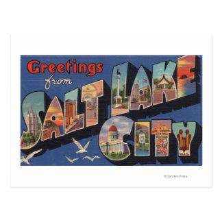 Cartão Postal Salt Lake City, Utá - grandes cenas 2 da letra