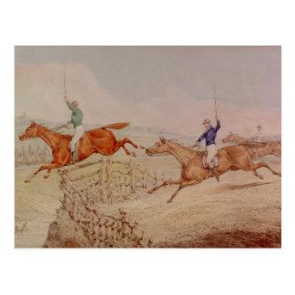 Cartão Postal Saltando uma cerca