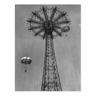 Cartão Postal Salto de pára-quedas de Coney Island