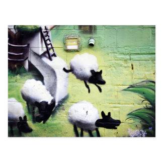 Cartão Postal Salto dos carneiros da arte dos grafites/rua