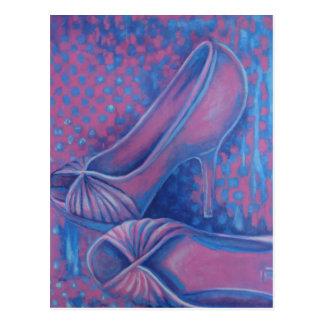Cartão Postal Saltos altos cor-de-rosa