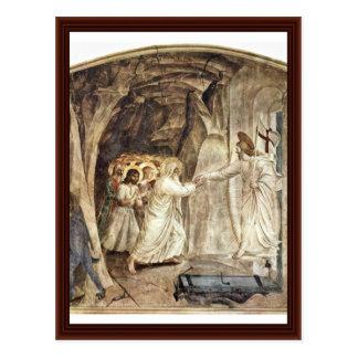 Cartão Postal Salvação do inferno de pessoas do antigo