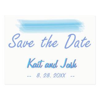 Cartão Postal Salvar a água azul do Ambiance macio minimalista