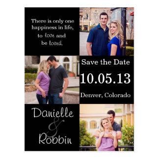 Cartão Postal Salvar a data - amor e seja amado