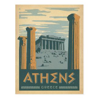 Cartão Postal Salvar a data | Atenas, piscina
