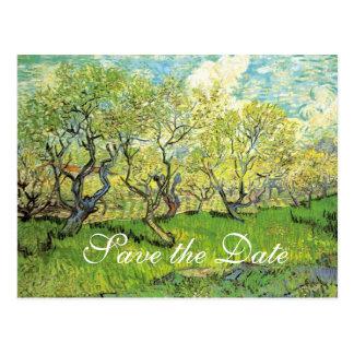 Cartão Postal salvar a data, casamentos do primavera