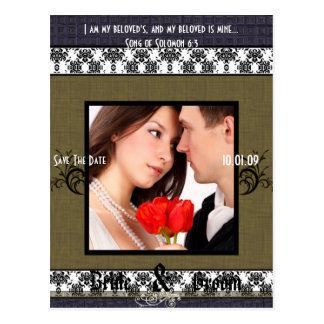 Cartão Postal Salvar a data com sua foto