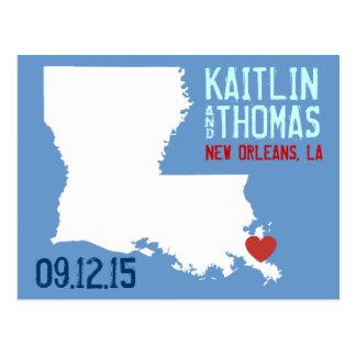 Cartão Postal Salvar a data - customizável - Louisiana