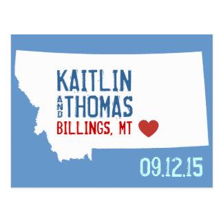 Cartão Postal Salvar a data - customizável - Montana