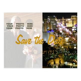 Cartão Postal Salvar a data Las Vegas