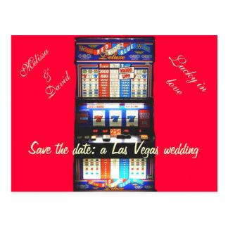 Cartão Postal Salvar a data Las Vegas que Wedding o vermelho do