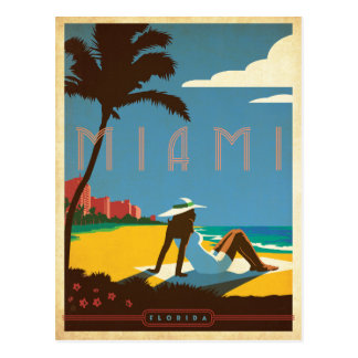 Cartão Postal Salvar a data | Miami, FL
