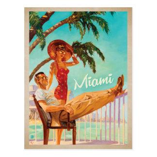 Cartão Postal Salvar a data | Miami, FL - casal