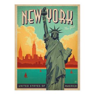 Cartão Postal Salvar a data | NYC - senhora Liberdade 2
