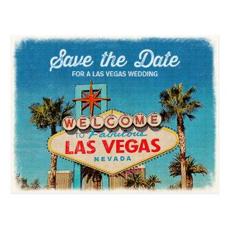 Cartão Postal Salvar a data para Las Vegas fabuloso que Wedding