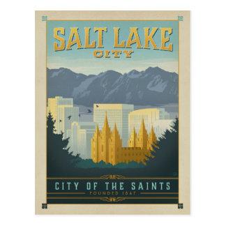 Cartão Postal Salvar a data | Salt Lake City, UT