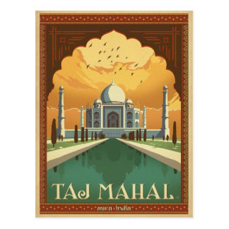 Cartão Postal Salvar a data   Taj Mahal, India