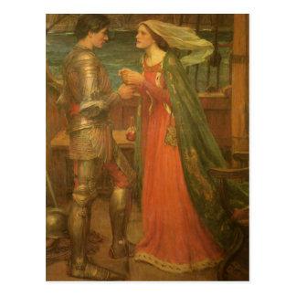 Cartão Postal Salvar a data! Tristan e Isolde pelo Waterhouse de