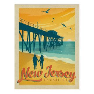 Cartão Postal Salvar a linha costeira da data | New-jersey