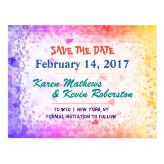 Cartão Postal Salvar a luz do sol do arco-íris da data