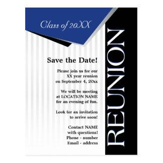 Cartão Postal Salvar a reunião de classe da data
