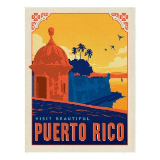 Cartão Postal Salvar a visita Puerto Rico bonito da data |