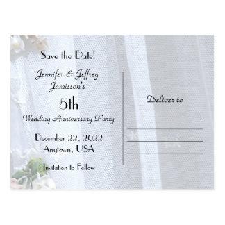 Cartão Postal Salvar anúncio do aniversário de casamento da data