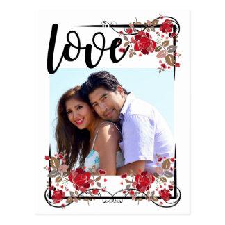 Cartão Postal Salvar o amor de Boho da data e a foto Poscard dos