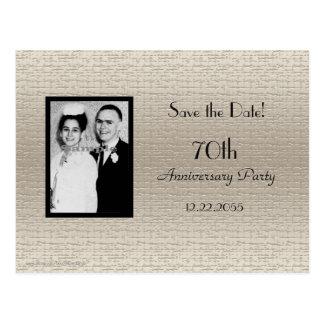 Cartão Postal Salvar o anúncio da foto do aniversário da data