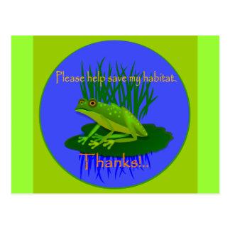 Cartão Postal Salvar o habitat