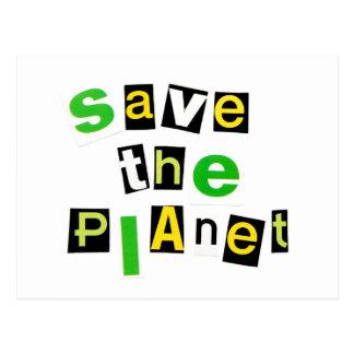 Cartão Postal Salvar o planeta