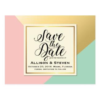 Cartão Postal Salvar o projeto da data