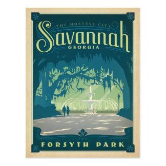 Cartão Postal Salvar o savana da data |, GA