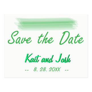 Cartão Postal Salvar o verde elegante minimalista na moda da