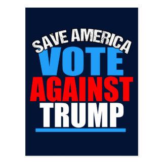 Cartão Postal Salvar o voto de América contra o trunfo