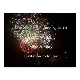 Cartão Postal Salvar os fogos-de-artifício da data