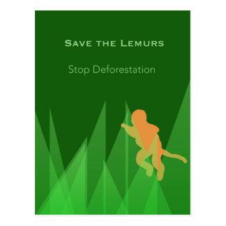 Cartão Postal Salvar os Lemurs