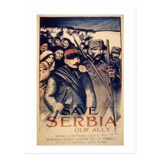 """Cartão Postal """"Salvar Serbia nosso aliado"""", o poster, 1915 (o"""