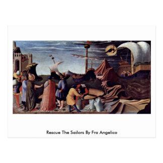 Cartão Postal Salve os marinheiros por Fra Angelico