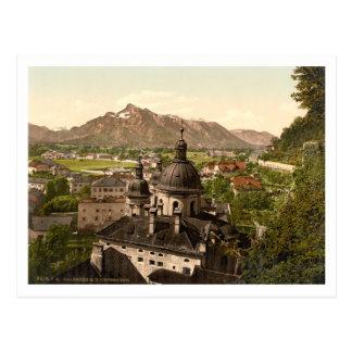 Cartão Postal Salzburg e Untersberg, Áustria